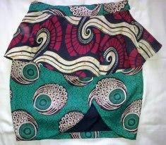 Nairobi Closet kitenge peplum skirt