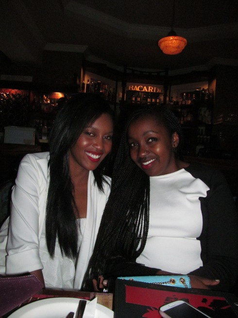 The birthday girl Wakanyi (left) and Tracy (right)