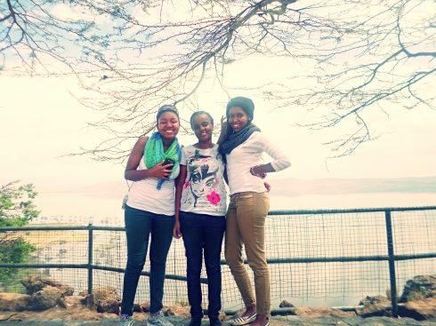 L to R: Thato, Sian and Wakanyi