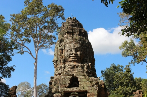 Bayon Smiling Faces Temple Cambodia