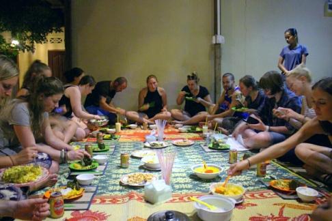Communal Khmer meal