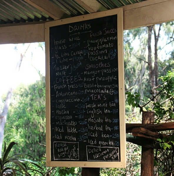 Tin Roof Drinks Menu, the Souk- Nairobi (Kenya)